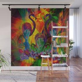 SURREAL FLAMINGOS Wall Mural