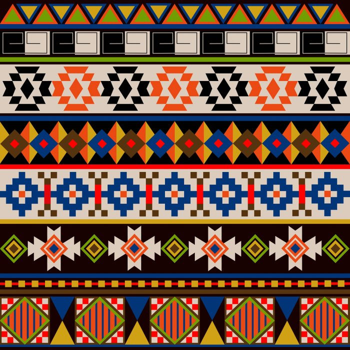 Colourful tribal Aztec patterns Comforters