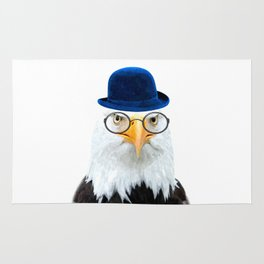 Funny Eagle Portrait Rug
