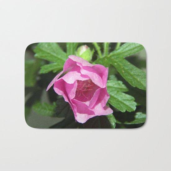Musk Mallow - Pretty Pink Flower Bath Mat