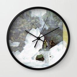 walking through the mist Wall Clock