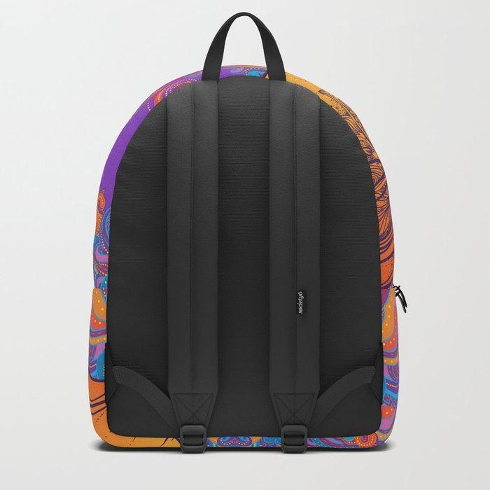 Orange Ganesha Backpack