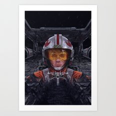 SW Hero Pilot: Luke Art Print