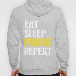 eat sleep pandas repeat for men Hoody