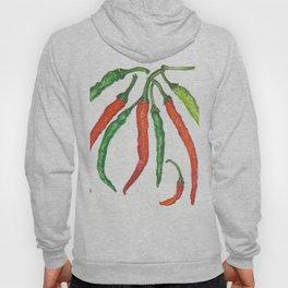 Watercolor Hot Peppers Hoody