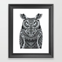 Fancy Great Horned Owl Framed Art Print