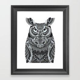 Fancy Great Horned Owl Framed Art Print