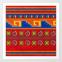 Red Mexico Art Print