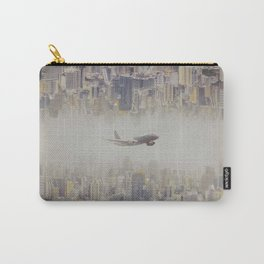 The plane flew over the city, Bangkok  ,Thailand Carry-All Pouch