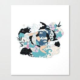Yakuza Tattoo Canvas Print