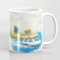 beaver Mugs featuring DH Beaver by Whitney Locken