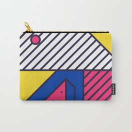 Festive Background in Neo Memphis Style Colorful Decorative pattern Carry-All Pouch