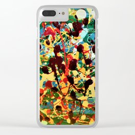 Finger spatter Clear iPhone Case