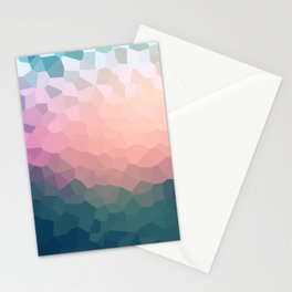 Abstract blue - pink background . Stationery Cards