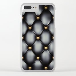 Black upholstery pattern Clear iPhone Case