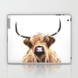 Highland Cow Portrait Laptop & iPad Skin