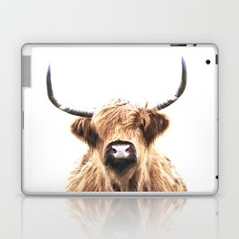 Highland Cow Portrait Laptop & iPad Skin