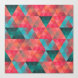 Abstract Geometric Pattern colorful triangles abstract art Canvas Print