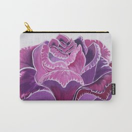 Knitted Flower Artwork Carry-All Pouch