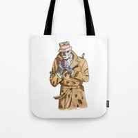 rorschach Tote Bags featuring Rorschach by Of Newts and Nerds