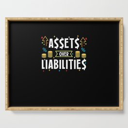 Assets Over Liabilities For Accountants Serving Tray
