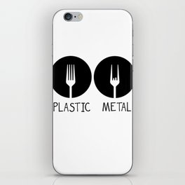Metal French Fry Fork Devil Horns Festival Gift iPhone Skin