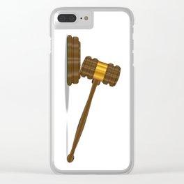 Judges Gravel Clear iPhone Case