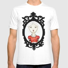 Just a portrait MEDIUM White Mens Fitted Tee