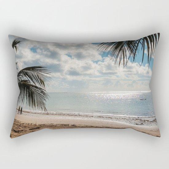 Couple at the beach Rectangular Pillow