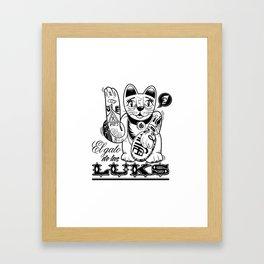 ''Gato de las LUKS'' Framed Art Print