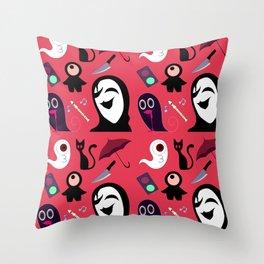 Yume Nikki Pattern Throw Pillow