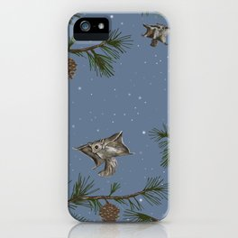 FLYING SQUIRRELS IN THE PINES (twilight) iPhone Case