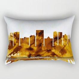Birmingham Alabama Skyline Rectangular Pillow