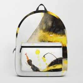 ORIGINAL WATECOLOR BUMBLE BEE Backpack