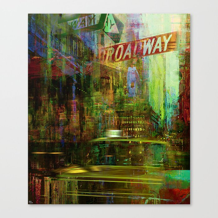 Noise never sleeps in this city Canvas Print