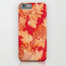 gold and red floral iPhone Case
