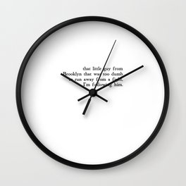 That Little Guy from Brooklyn Wall Clock