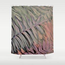 PASTEL TROPICAL BOTANICAL LEAF PRINT Shower Curtain