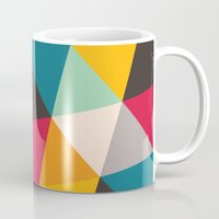 triangles Mugs featuring Triangles by Gary Andrew Clarke