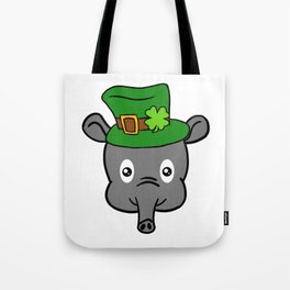 Leprechaun Tapir- St. Patricks Day Tote Bag