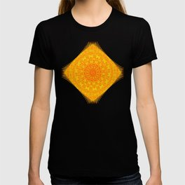 Yellow Earth Mandala T-shirt