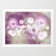 Phantasie in lila - Fantasy in purple Art Print