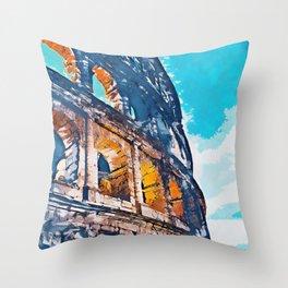 Colosseum, Rome Throw Pillow
