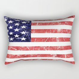 American Grunge Flag Rectangular Pillow