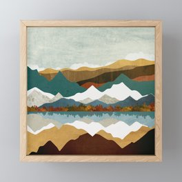 Winter Lake Framed Mini Art Print