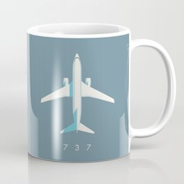 737 Passenger Jet Airliner Aircraft - Slate Coffee Mug