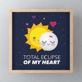 Total eclipse of my heart Framed Mini Art Print