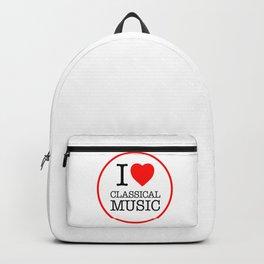 I Love Classical Music, circle Backpack