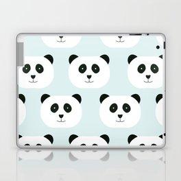 Panda Love- Mint Blue Laptop & iPad Skin