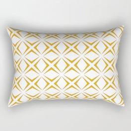 Diamonds in Ochre Rectangular Pillow